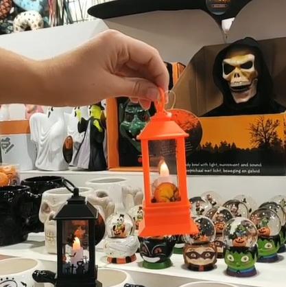 Фонарь декоративный Halloween, LED, оранжевый, 125 мм