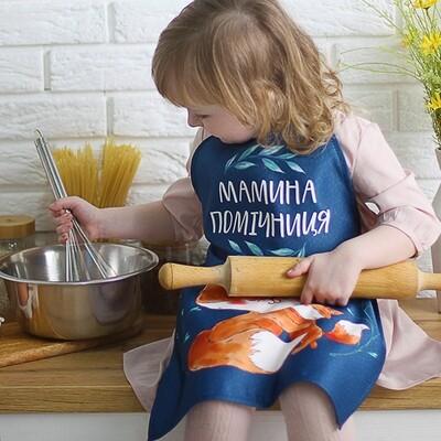 Фартук детский полноцветный Мамина помічниця FRTCD_21A004