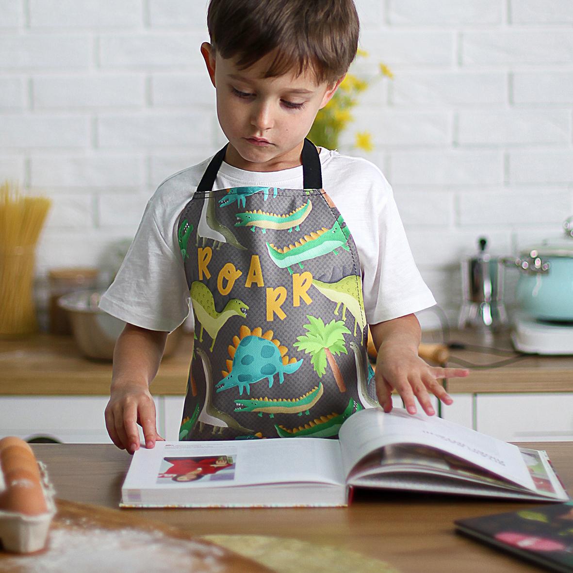 Фартук детский полноцветный Roar (динозаврики)