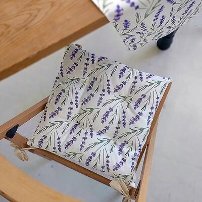 Подушка на стул с завязками Лаванда PZ_21A005