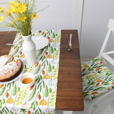 Подушка на стул с завязками Цветочное настроение PZ_21A001