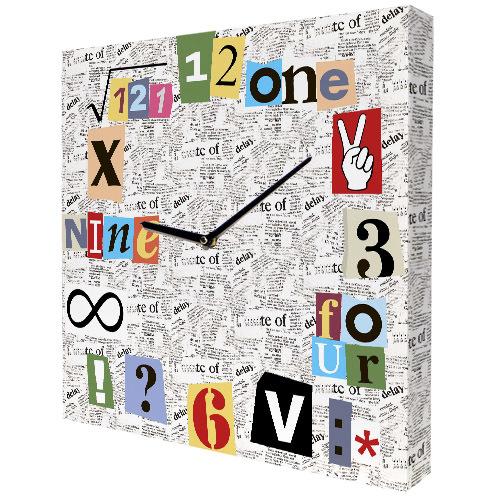 Часы настенные квадратные Математические часы