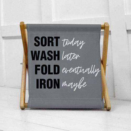 Складная корзина для хранения Sort wash fold iron