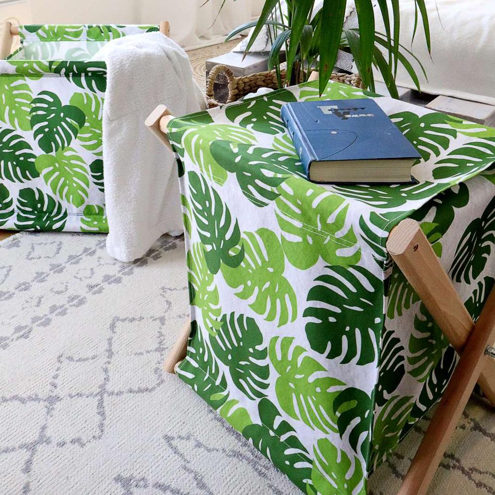 Складная корзина для хранения Тропические листья