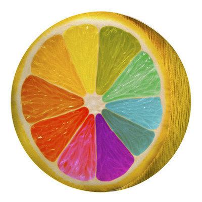 Подушка круглая Радужный лимон PP_15M074