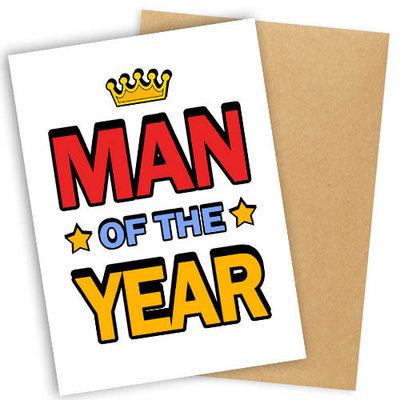 Открытка с конвертом Man of the year OTK_16A161