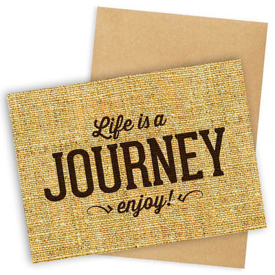 Открытка с конвертом Life is a Journey enjoy! OTK_16A105