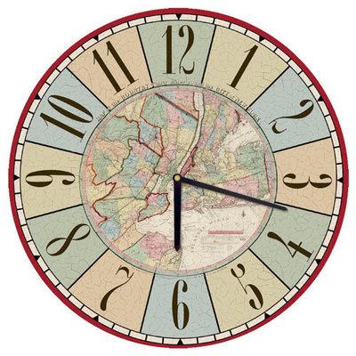 Часы настенные круглые, 36 см Карта CHR_O_15M015