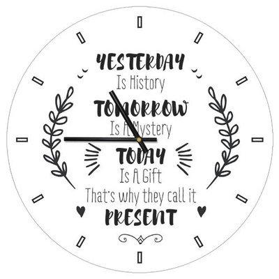 Часы настенные круглые, 36 см Present CHR_P_ORG028