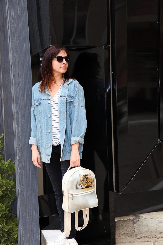 Городской женский рюкзак Кот