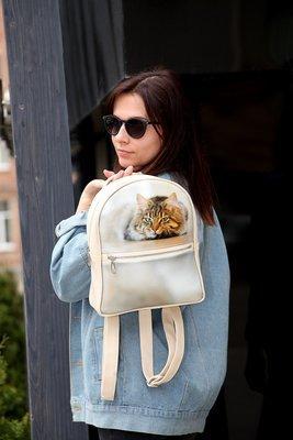 Городской женский рюкзак Кот ERK_17A062_SBR