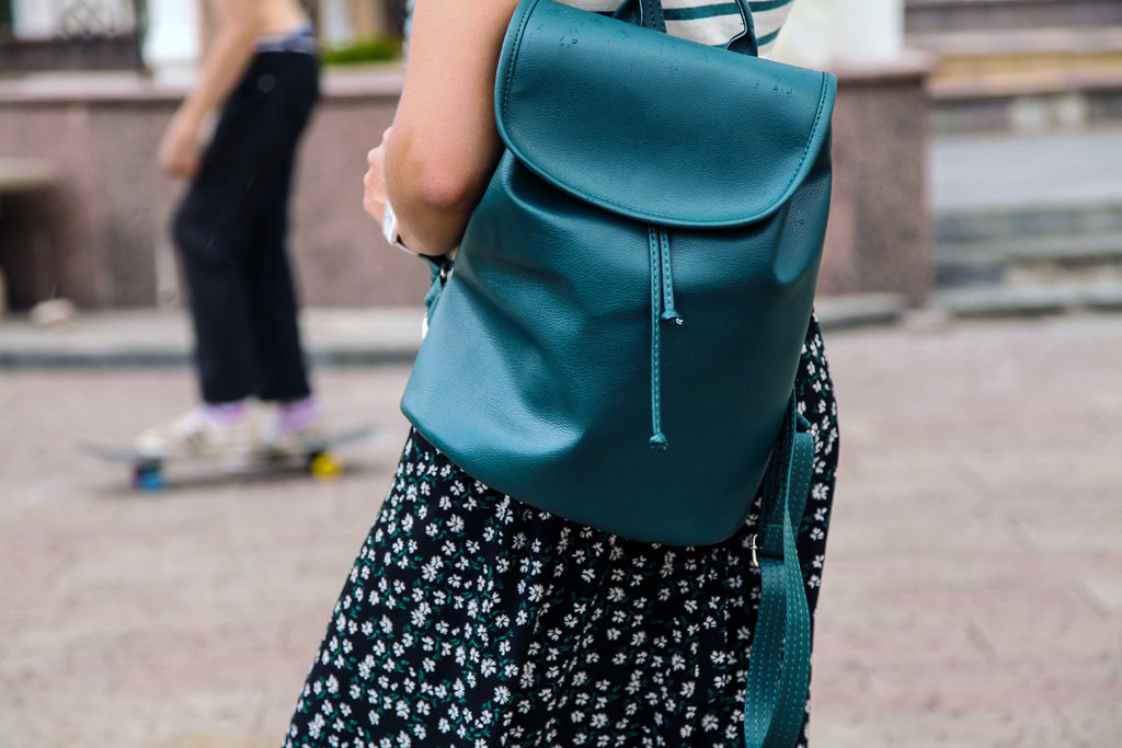 Рюкзак женский кожзам Mod MAXI, цвет темно-зелёный