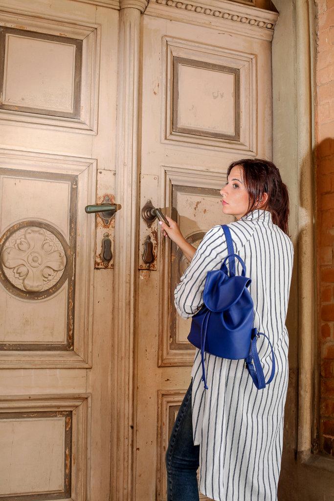 Рюкзак женский кожзам Mod MINI, цвет ультра-синий