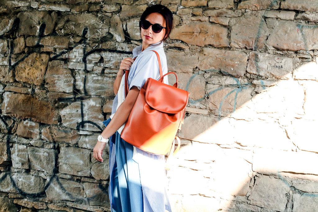 Рюкзак женский кожзам Mod MAXI, цвет рыжий