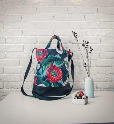 Городская сумка City Цветочное настроение SCB_FFL004_BL