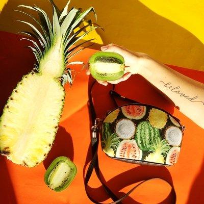 Маленькая женская сумочка Coquette Тропические фрукты COQ_CLF001_BL
