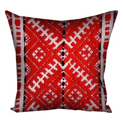 Подушка с принтом 40х40 см Український орнамент червоний 4P_UKR030