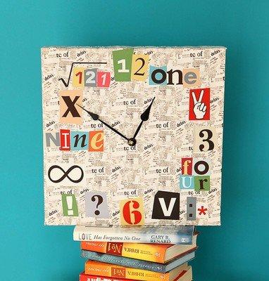 Часы настенные квадратные Математические часы CH_O_14I030