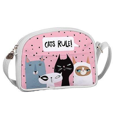Сумка для подростков Junior girl Коты Cats rule! SDG_18A003_WH