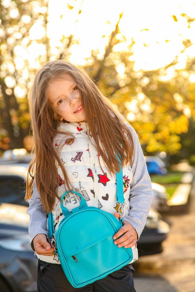 Маленький рюкзак-сумка Rainbow, цвет голубой