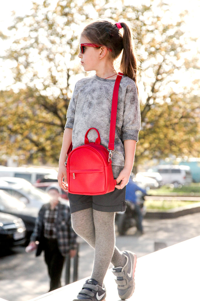 Маленький рюкзак-сумка Rainbow, цвет красный