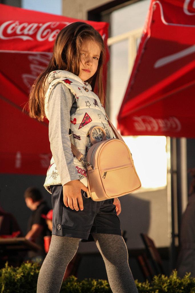 Маленький рюкзак-сумка Rainbow, цвет ореховый