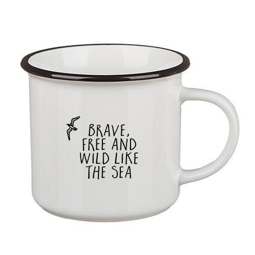 Стильная кружка Camper Brave, free and wild like the sea
