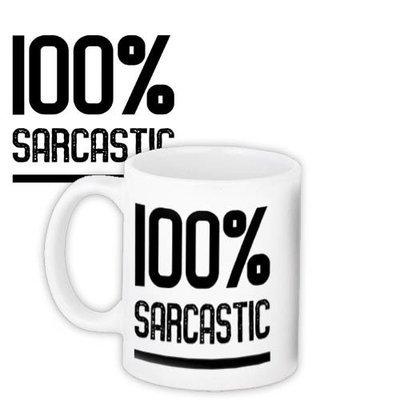 Кружка с принтом 100% sarcastic KR_18J039