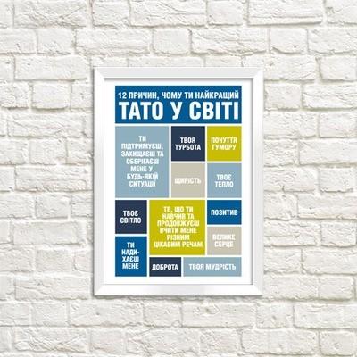 Постер в рамке A3 Чому ти найкращий тато WMT3_002_UKR