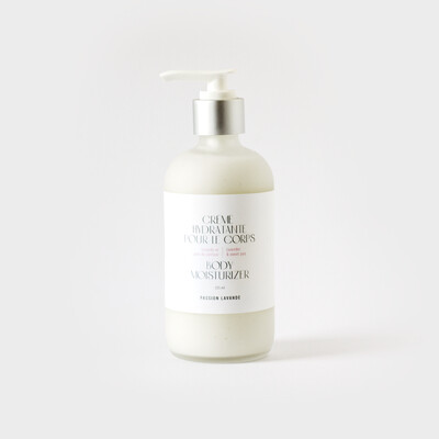 Crème hydratante pour le corps (choix d'odeurs)