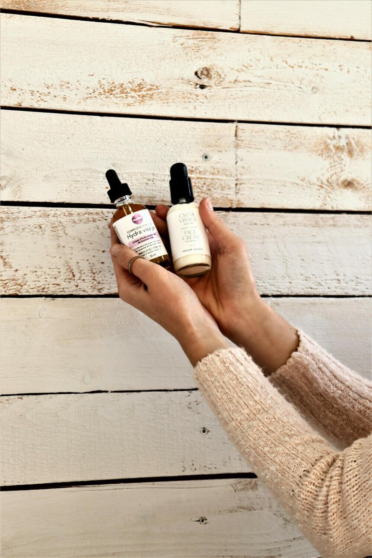DUO complexe d'huile Hydra visage et crème visage (PROMOTION)