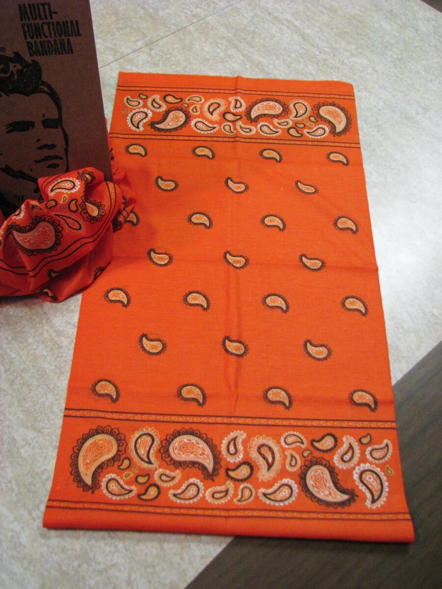 Orange Paisley - Headz Up Multi-Functional Bandana