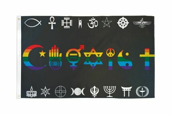 FLAG COEXIST RAINBOW 3X5FT
