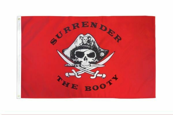 FLAG SURRENDER THE BOOTY PIRATE 3X5FT