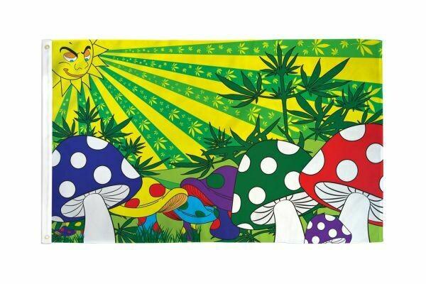 FLAG MUSHROOM MARIJUANA 3X5FT
