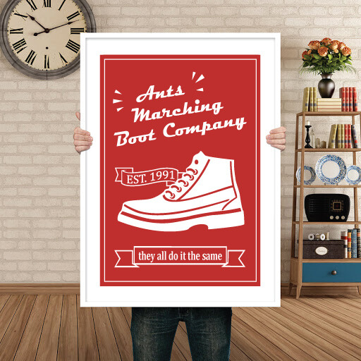 ANTS MARCHING BOOT COMPANY - POSTER