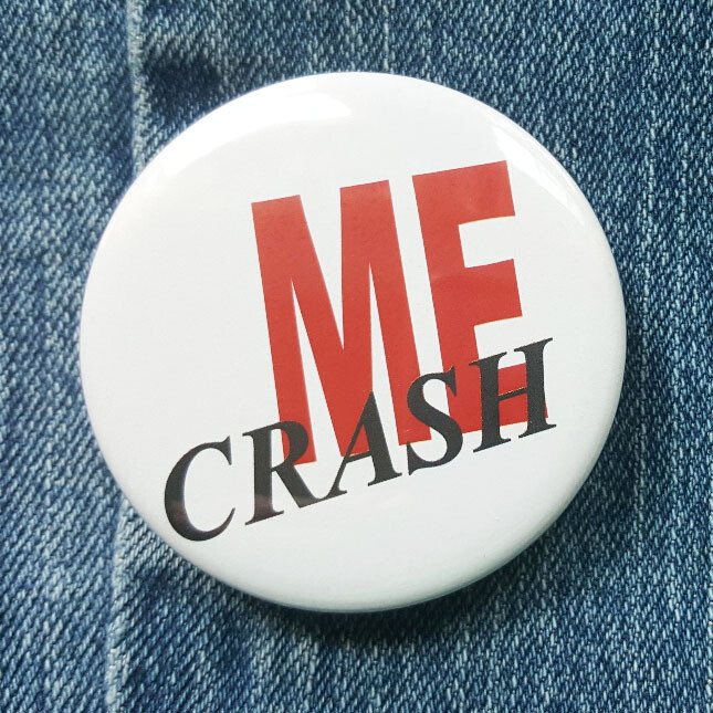 "DMB Crash Into Me Pin Back Button - 2.25"""