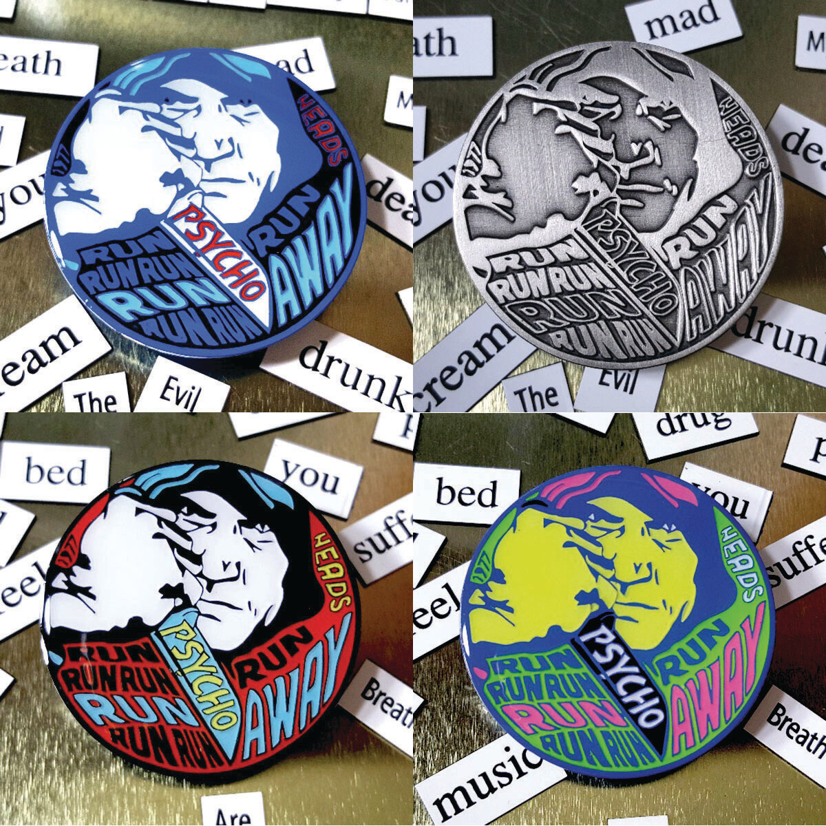 Psycho Killer Pin Set - All 4 Variants