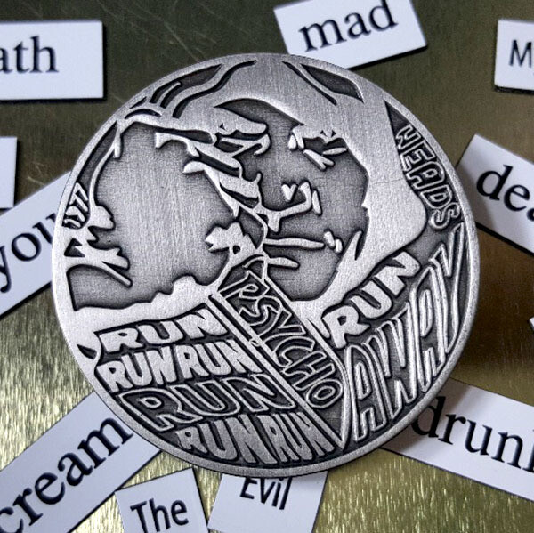 Psycho Killer Pin - Antique Silver LE 10