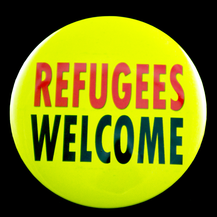 """Refugees Welcome 3"""" Pin-back Button"""