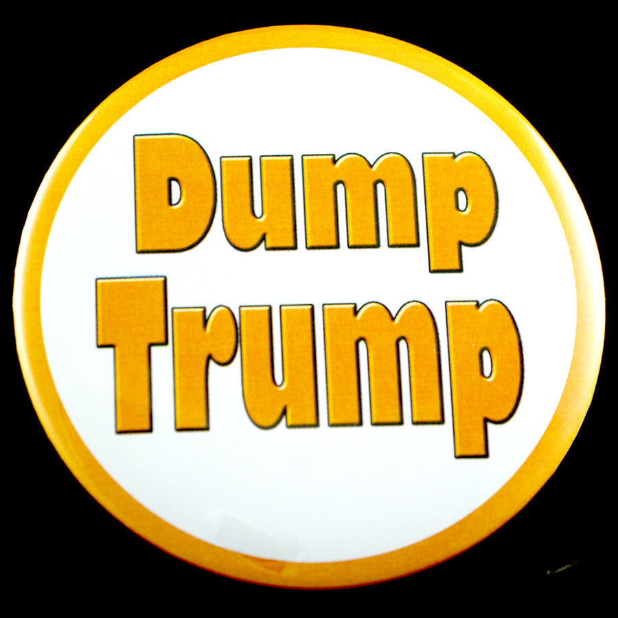 "Dump Trump 3"" Pin-back Button"