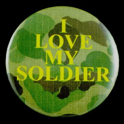 """Love My Soldier 3"""" Pin-back Button"""