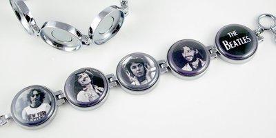 Artclix Beatles c. 1970 Bracelet Buttons
