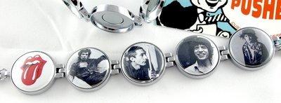 Artclix Rolling Stones ca. 1965 & 1980 Bracelet Buttons