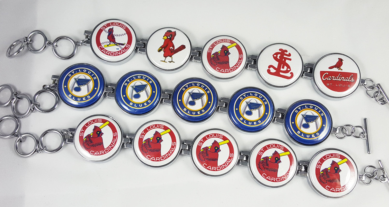 Artclix St. Louis Sports Bracelet Buttons