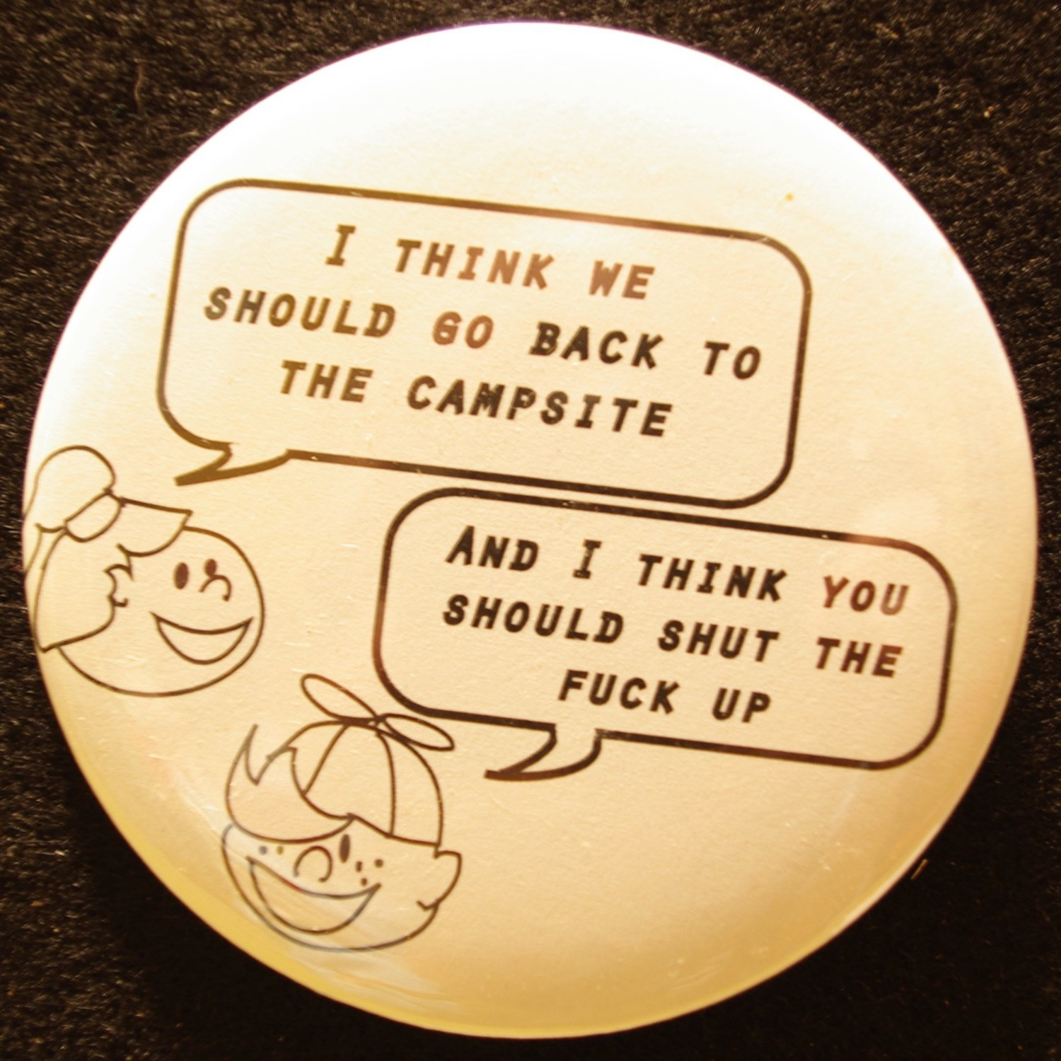 "Camp Kids 3"" Pin-back Button"
