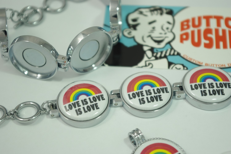 Artclix Love is Love Bracelet Buttons