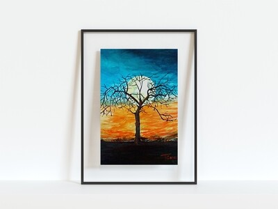 Rise of the Autumn Moon Print