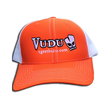 VUDU HAT - ORANGE/WHITE