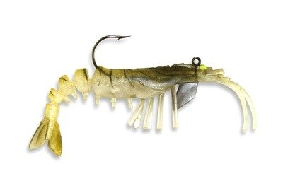 08 Vudu Shrimp Gold 3.25 inch 1/4 oz (2pk)